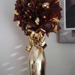 Aranžman sa pićem - Ferrero Rocher | Slatki buketi | Pokloni od cokolade
